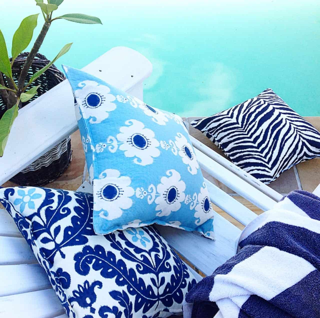 Peacock Blue Indoor Outdoor Cushion Cover - photo#36