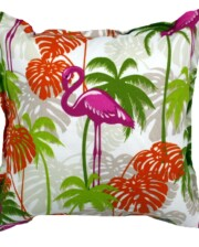 Pink Flamingo Indoor Outdoor Cushion Bungalow Living
