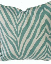 Seafoam Zebra Indoor Outdoor Cushion Bungalow Living