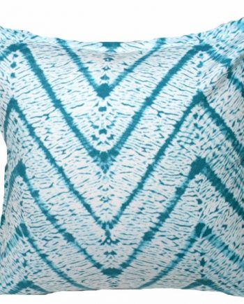 Tie Dye Aqua Outdoor Indoor Cushion Bungalow Living