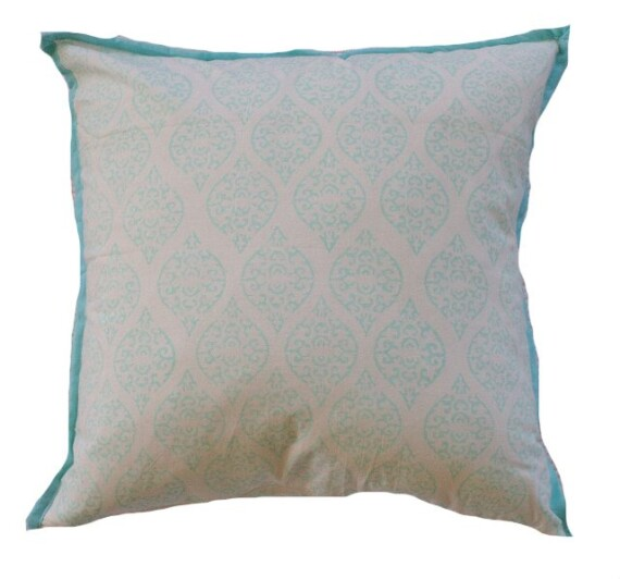 Aqua Stamp Indoor Cushion Bungalow Living