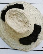 Black Pom Pom Handmade Moroccan Hat