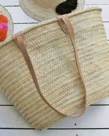 Large Handmade Moroccan Tote Basket