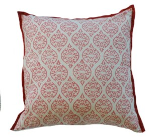 Pink Block Print Indoor Cushion Bungalow Living