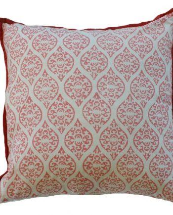 Pink Block Print Indoor Cushion Bungalow Living