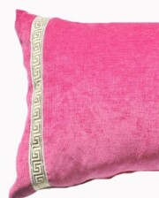 Pink Velvet Greek Key Lumber