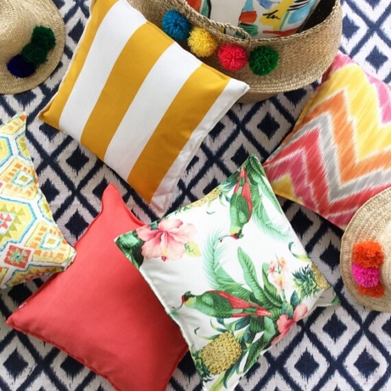 Bungalow Living Outdoor Designer Cushions and Hand Made Hats and Baskets