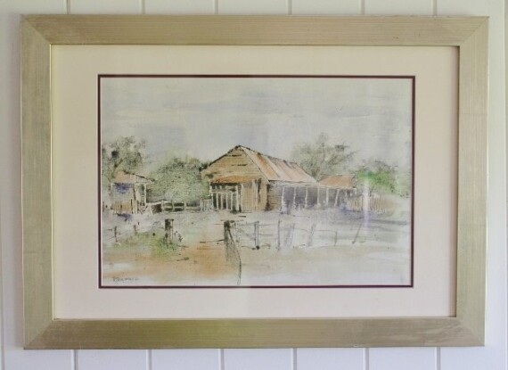 The Outback Cottage Watercolour Bungalow Living