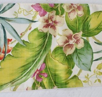 Tropical Orchid Table Runner