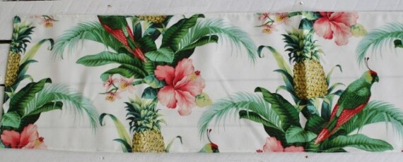 Pink Hibiscus Table Runner
