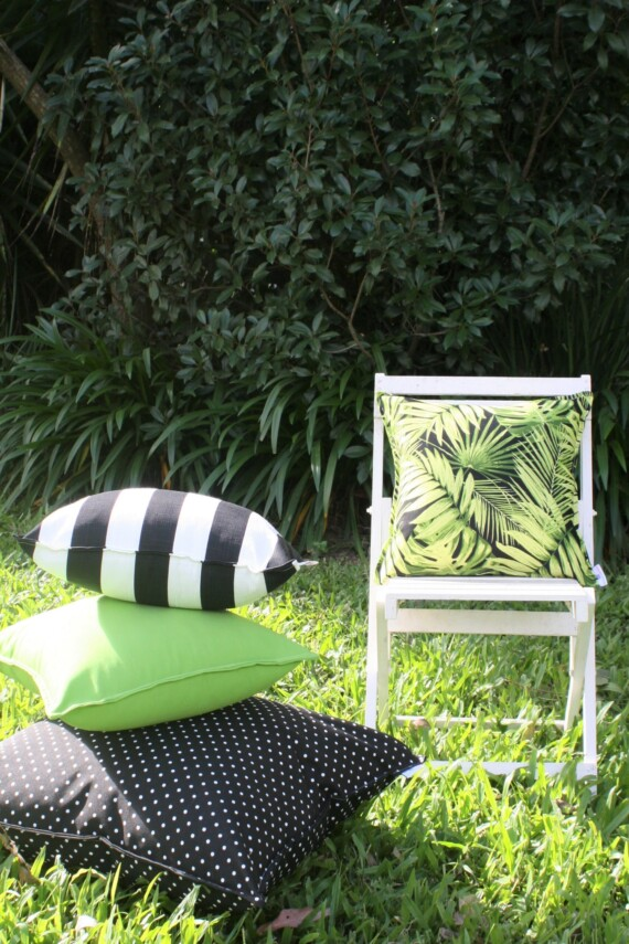 Bungalow Living Black & White Outdoor Cushions