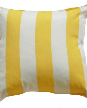Yellow Cabana Stripe Indoor Outdoor Cushion