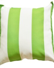 Green and White Cabana Stripe Indoor Outdoor Cushion Cover Bungalow Living