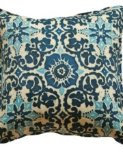 Damascus Blue Indoor Outdoor Cushion Cover Bungalow Living