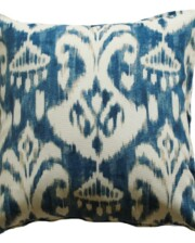 Indigo Ikat Indoor Outdoor Cushion Cover Bungalow Living