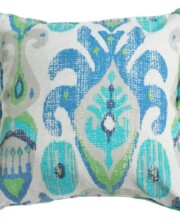 Ocean Ikat Indoor Outdoor Cushion Cover Bungalow Living