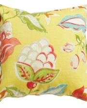 Yellow Floral Indoor Outdoor Cushion Cover Bungalow Living