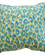 Aqua Leopard Indoor Outdoor Cushion Cover Bungalow Living