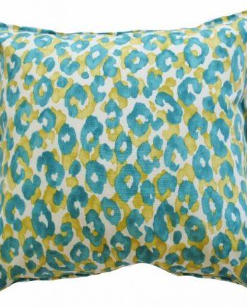 Aqua Leopard Indoor Outdoor Cushion Cover Bungalow Living