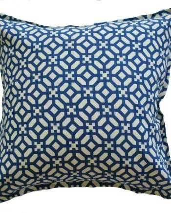 Blue Geometric Indoor Outdoor Bungalow Living Cushion