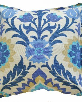 Santa Maria Blue Floral Indoor Outdoor Cushion Bungalow Living