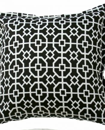 Black and White Maze Indoor Outdoor Cushion Bungalow Living