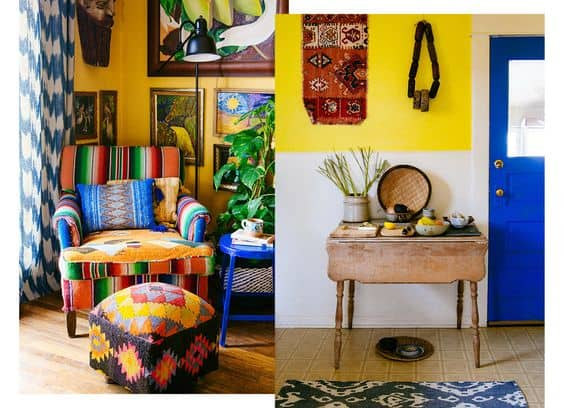 Yellow Living Room Image from Justine Blakenly New Bohemians
