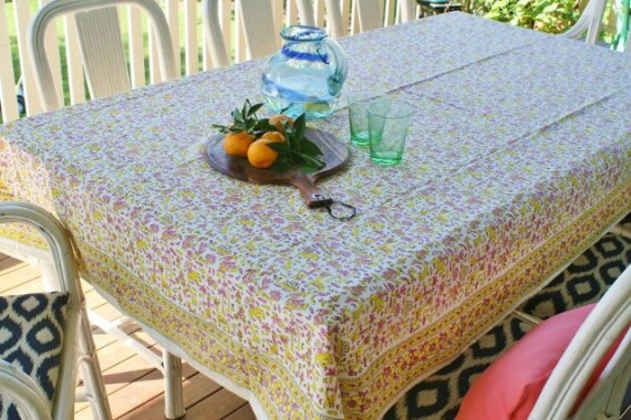 Bungalow Living Handmade Tablecloth