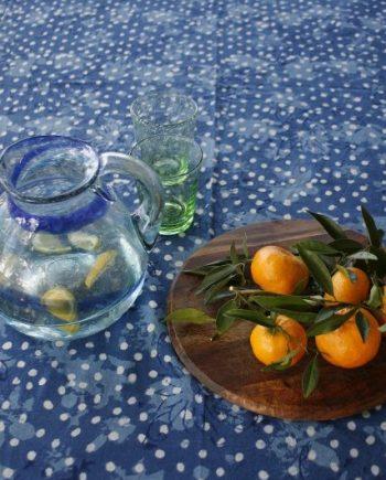 Bungalow Living Indigo Spot Tablecloth