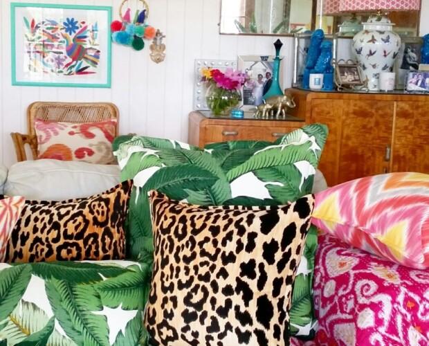 Velvet Leopard Cushions Bungalow Living