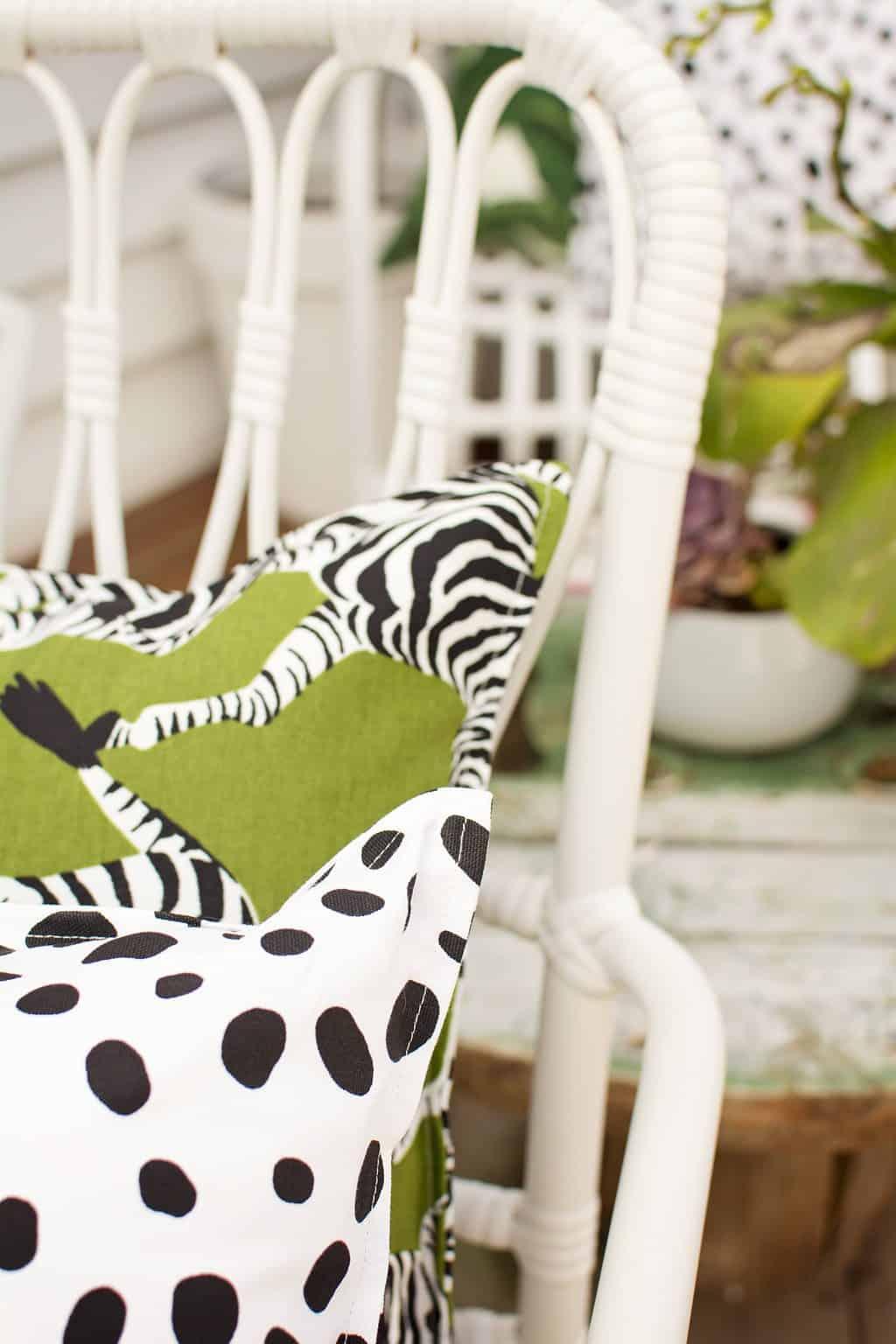 Green Zebra Outdoor Indoor Cushion Cover