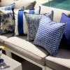 Deep Blue Indoor Outdoor Cushion by Bungalow Living