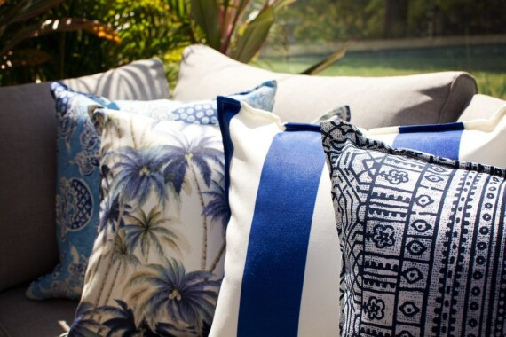 Indigo Batik Outdoor Indoor Cushion Bungalow Living Made in Australia