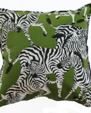 Green Zebra Indoor Outdoor Cushion