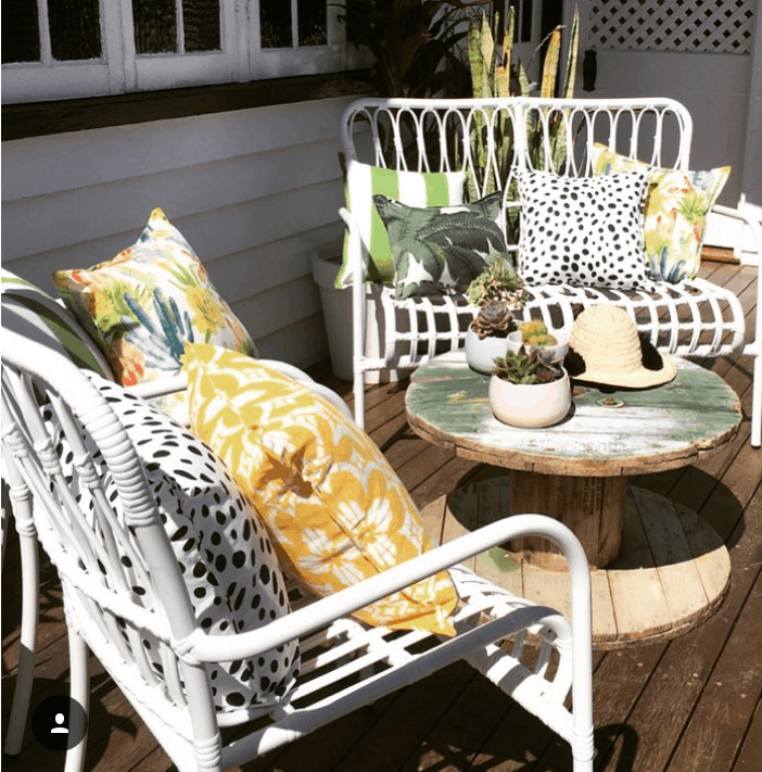 Chase the winter sun and place your outdoor furniture in sunny spots to make the most of the winter warmth and add your Bungalow Living Outdoor Cushions!