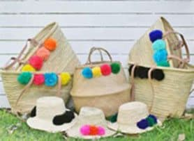 beach basket bag, beach hats, custom made beach baskets, Buy Unique Designer Cushions Online
