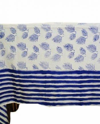 Palm Sunday Blue Tablecloth