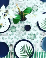 Bungalow Living Palm Sunday Tablecloth