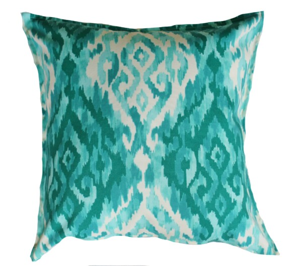 Aqua Island Ikat Indoor Outdoor Cushion Bungalow Living