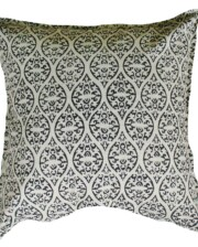Block Print Ebony Outdoor Indoor Cushion