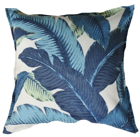 Blue Oasis Palm Outdoor Indoor Cushion