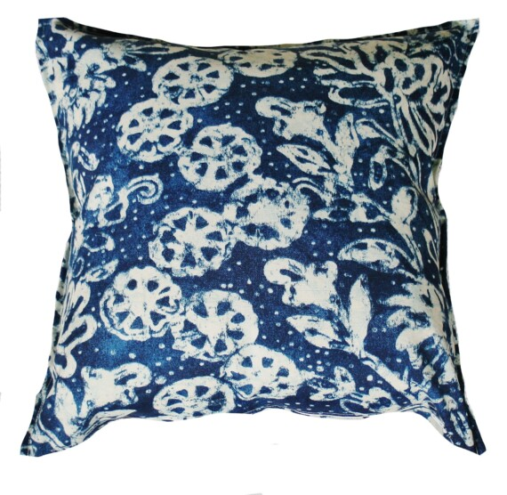 Botanical Indigo Outdoor Indoor Cushion