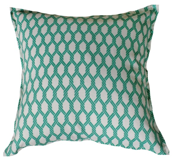 Emerald Knots Indoor Outdoor Cushion Bungalow Living