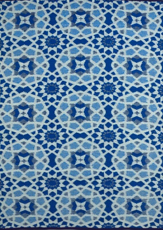 OMCHT1691MUBL_1_ Blue Mosaic Outdoor Rug