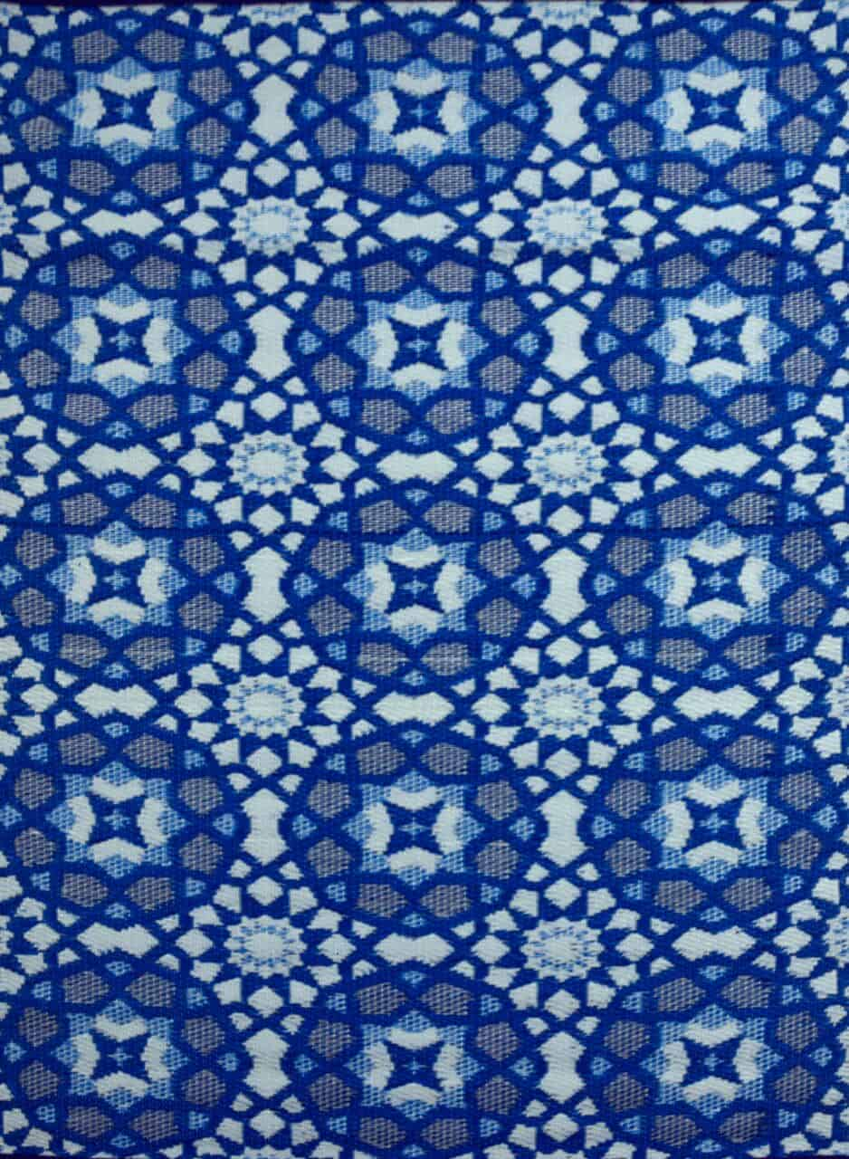 Blue Mosaic Outdoor Mat
