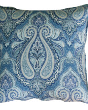 Azure Paisley Outdoor Indoor Cushion