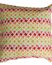 Citrus Houndstooth Outdoor Indoor Cushion