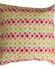 Citrus Houndstooth Outdoor Indoor Cushion