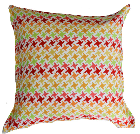 Citrus Houndstooth Outdoor Indoor Cushion Bungalow Living