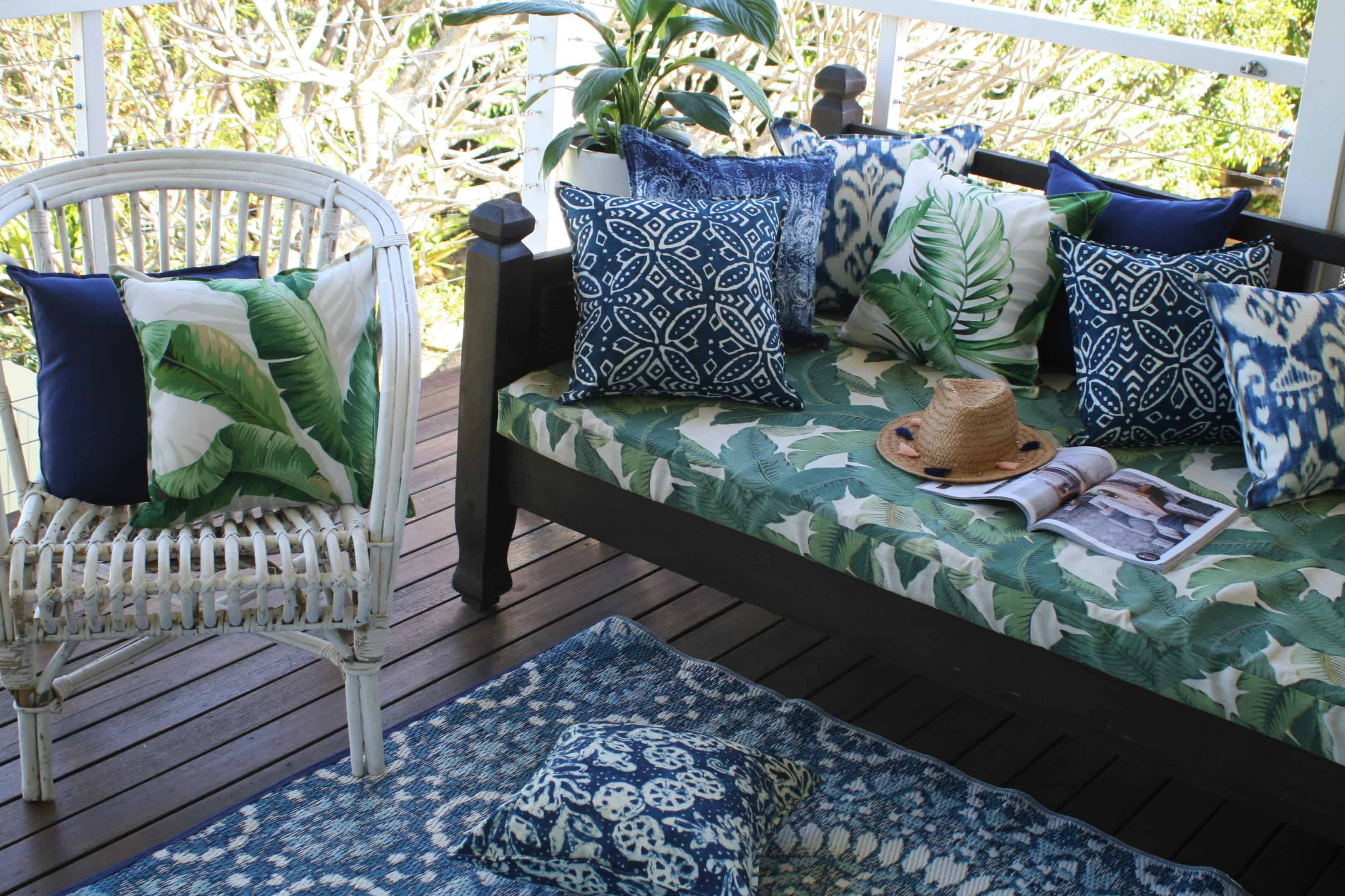 Outdoor Mats are not only great for adding colour to your outdoor space but also will limit cold air coming up from under your verandah!